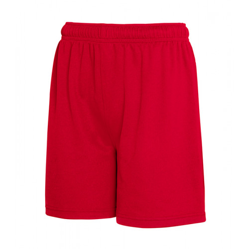 Fruit of the loom Kids Performance Shorts Red