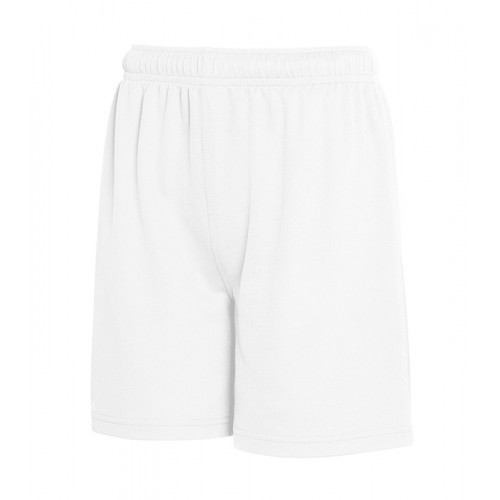 Fruit of the loom Kids Performance Shorts White