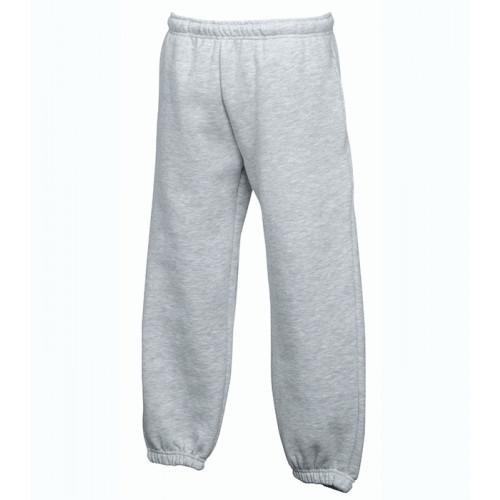 Fruit of the loom Kids Premium Elasticated Cuff Jog Pants Heather Grey