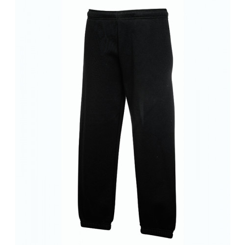 Fruit of the loom Kids Premium Elasticated Cuff Jog Pants Black
