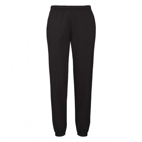 Fruit of the loom Classic Elasticated Cuff Jog Pants Black
