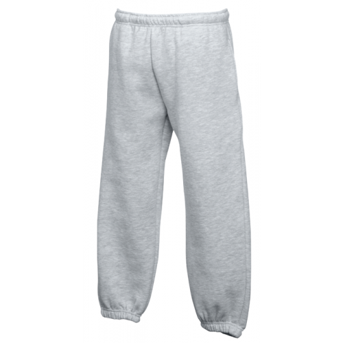 Fruit of the loom Kids Classic Elasticated Cuff Jog Pants Heather Grey