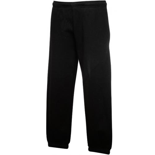 Fruit of the loom Kids Classic Elasticated Cuff Jog Pants Black