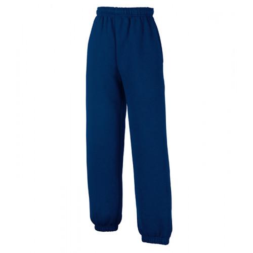 Fruit of the loom Kids Classic Elasticated Cuff Jog Pants Navy