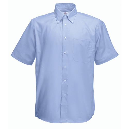 Fruit of the loom Short Sleeve Oxford Shirt Oxford Blue
