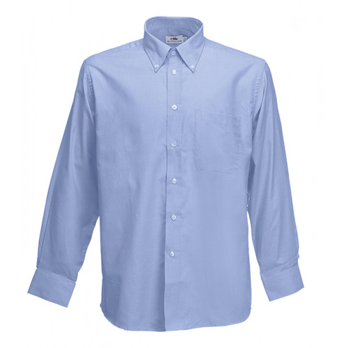 Fruit of the loom Long Sleeve Oxford Shirt Oxford Blue