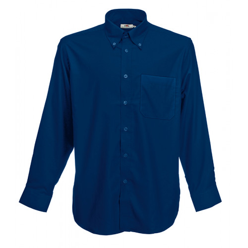 Fruit of the loom Long Sleeve Oxford Shirt Navy