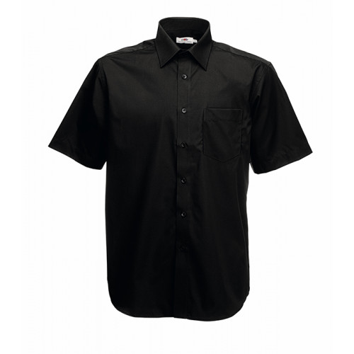 Fruit of the loom Short Sleeve Poplin Shirt Black