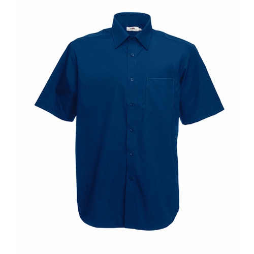 Fruit of the loom Short Sleeve Poplin Shirt Navy