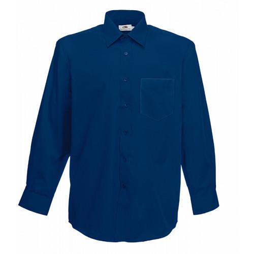 Fruit of the loom Long Sleeve Poplin Shirt Navy