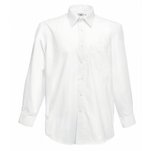 Fruit of the loom Long Sleeve Poplin Shirt White