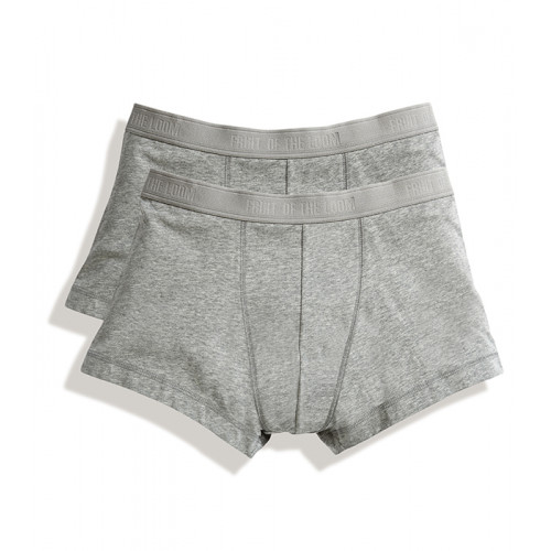 Fruit of the loom Classic Shorty 2 Pack Heather Grey