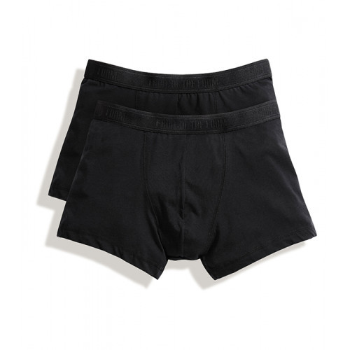 Fruit of the loom Classic Shorty 2 Pack Black
