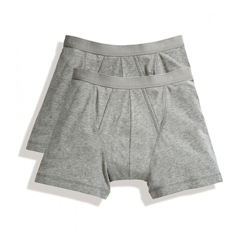 Fruit of the loom Classic Boxer 2 Pack Heather Grey