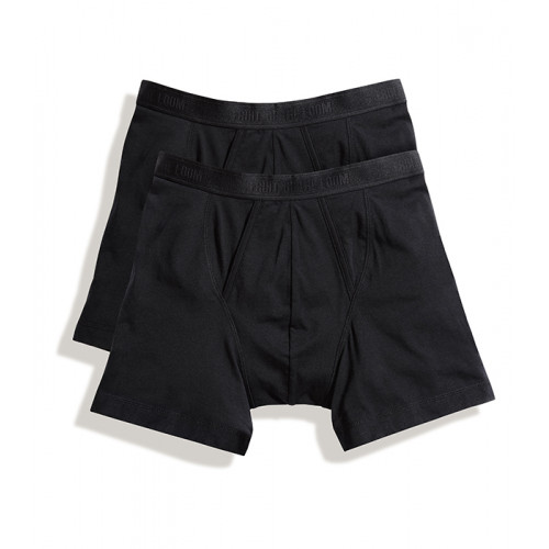 Fruit of the loom Classic Boxer 2 Pack Black