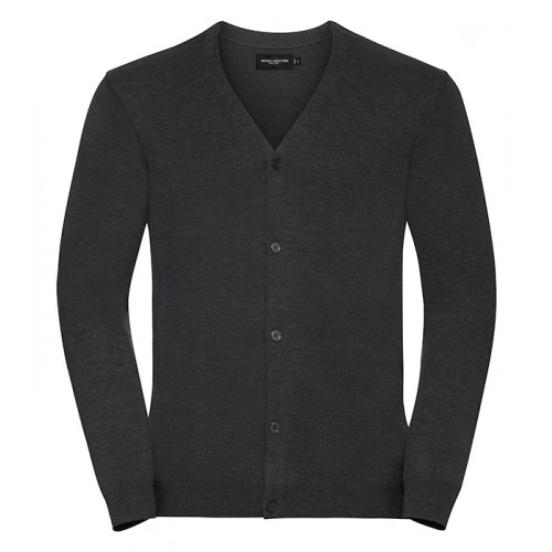 Russell Men´s V-neck Cardigan Charcoal Marl