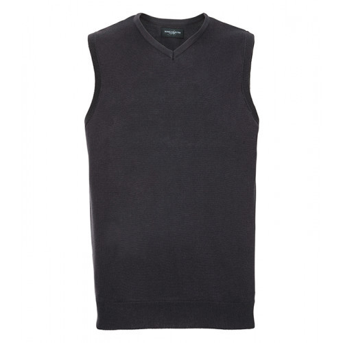 Russell Mens Sleeveless Pullover Charcoal Marl