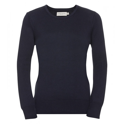 Russell Ladies Crew Neck Pullover French Navy