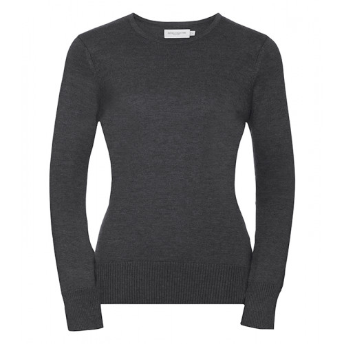Russell Ladies Crew Neck Pullover Charcoal Marl