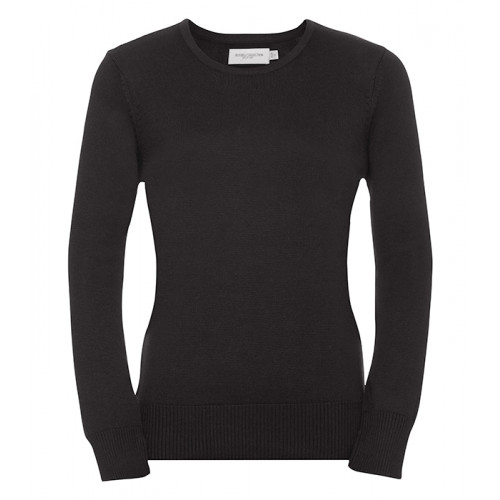 Russell Ladies Crew Neck Pullover Black