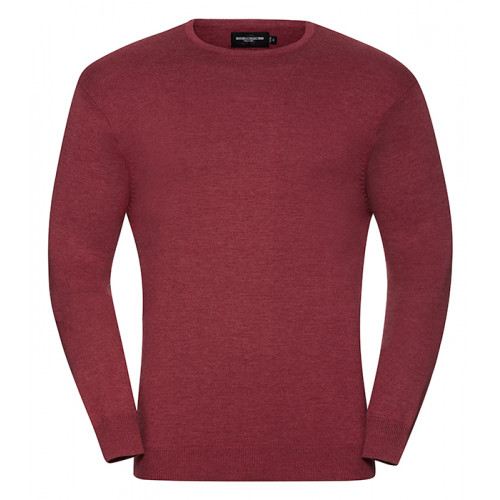Russell Men´s Crew Neck Pullover Cranberry Marl