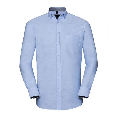 Russell Men´s LS Tailored Washed Oxford Shirt Oxford Blue/Oxford Navy