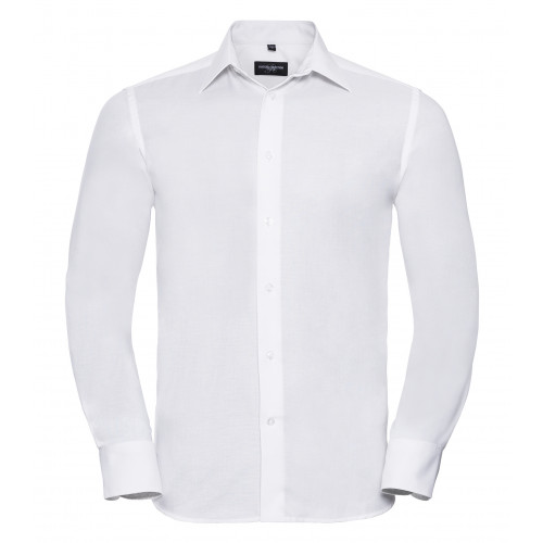 Russell Men´s Long Sleeve Easy Care Tailored Oxford Shirt White