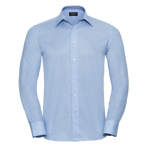 Russell Men´s Long Sleeve Easy Care Tailored Oxford Shirt Oxford Blue