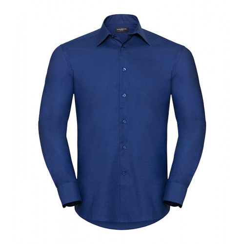 Russell Men´s Long Sleeve Easy Care Tailored Oxford Shirt Bright Royal