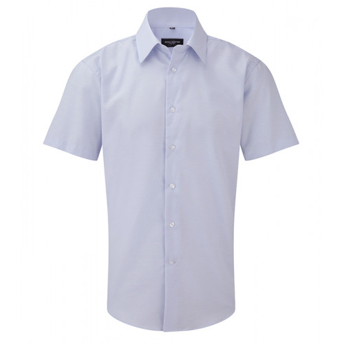 Russell Men`s SS Easy Care Tailored Oxford Shirt Ox Blue