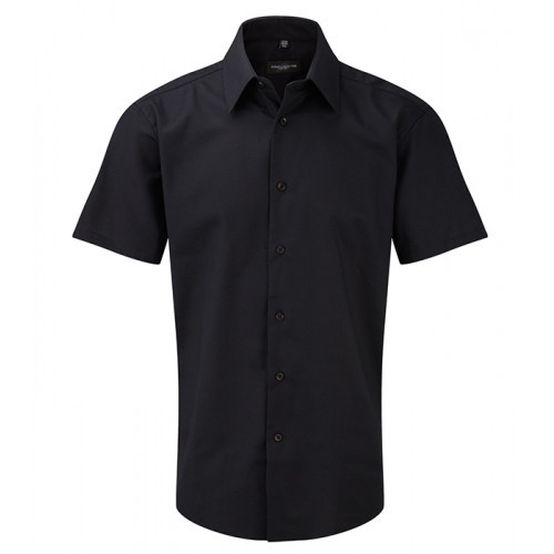Russell Men`s SS Easy Care Tailored Oxford Shirt Black