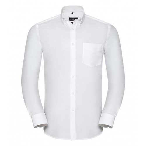 Russell Men´s LS Tailored Button-Down Oxford Shirt White