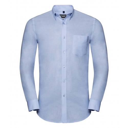 Russell Men´s LS Tailored Button-Down Oxford Shirt Oxford Blue