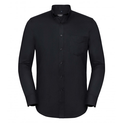 Russell Men´s LS Tailored Button-Down Oxford Shirt Black