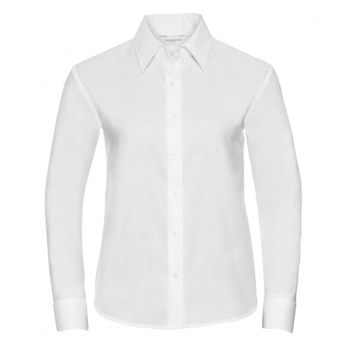 Russell Ladies´ Long Sleeve Easy Care Oxford Shirt White