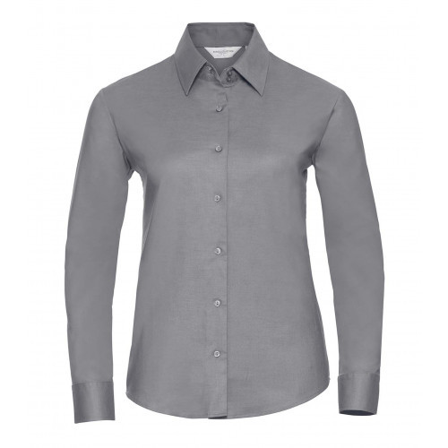 Russell Ladies´ Long Sleeve Easy Care Oxford Shirt Silver
