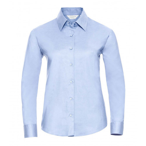 Russell Ladies´ Long Sleeve Easy Care Oxford Shirt Oxford Blue