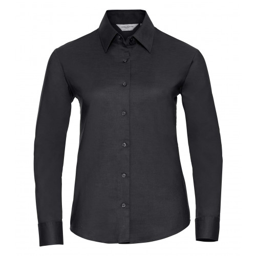 Russell Ladies´ Long Sleeve Easy Care Oxford Shirt Black