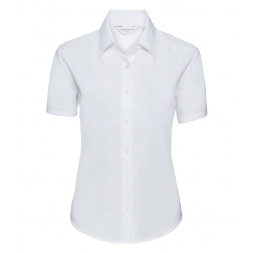 Russell Ladies´ Short Sleeve Easy Care Oxford Shirt White