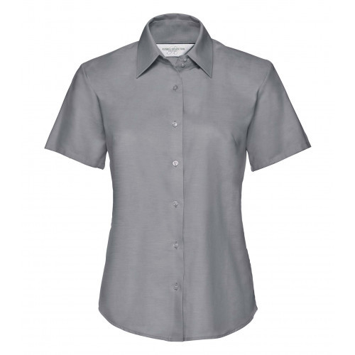 Russell Ladies´ Short Sleeve Easy Care Oxford Shirt Silver