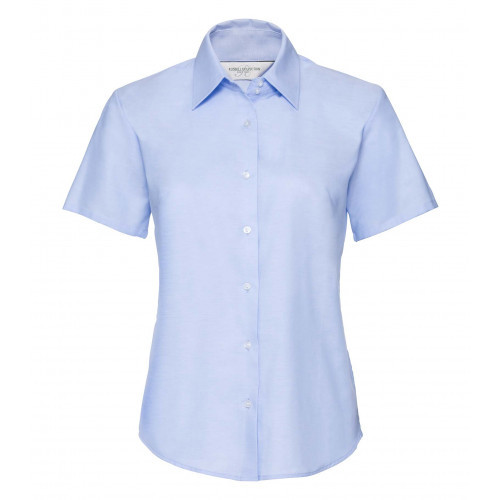 Russell Ladies´ Short Sleeve Easy Care Oxford Shirt Oxford Blue
