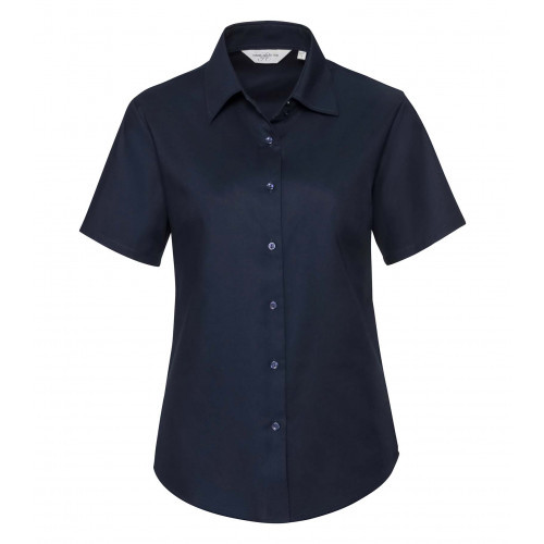 Russell Ladies´ Short Sleeve Easy Care Oxford Shirt Bright Navy