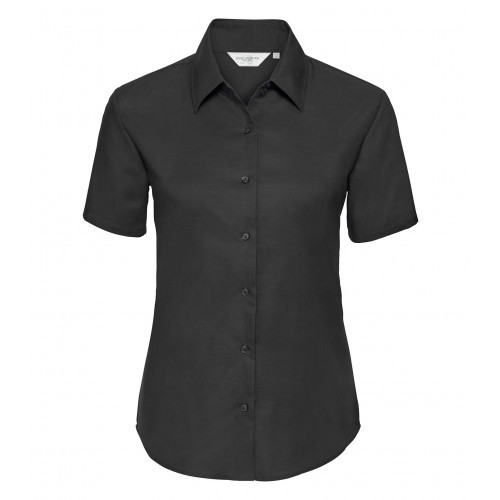 Russell Ladies´ Short Sleeve Easy Care Oxford Shirt Black