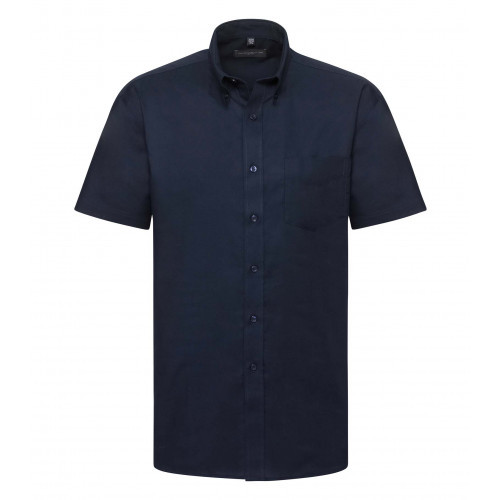 Russell Men´s Short Sleeve Easy Care Oxford Shirt Bright Navy