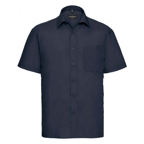 Russell Men´s Short Sleeve Polycotton Easy Care Poplin Sh French Navy