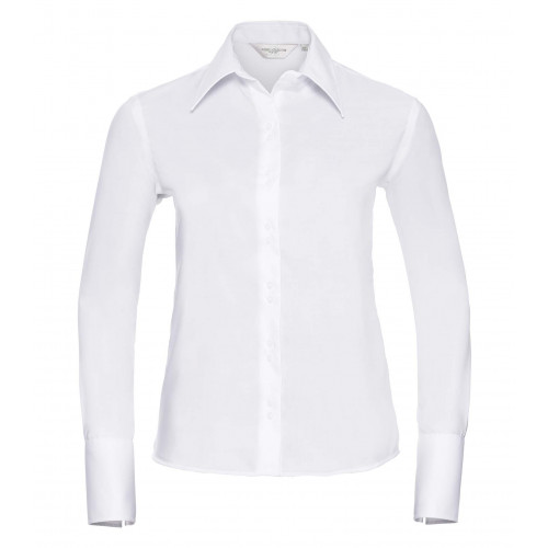 Russell Ladies´ Long Sleeve Ultimate Non-Iron Shirt White