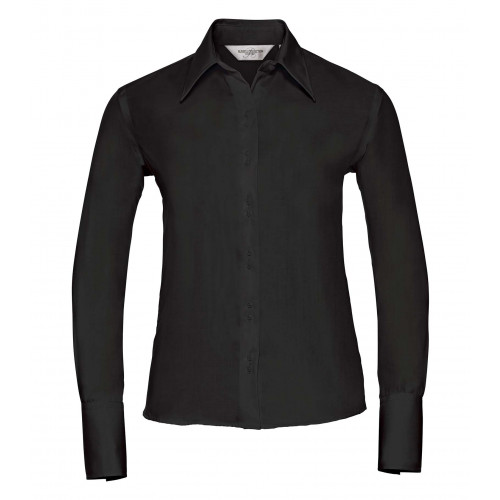 Russell Ladies´ Long Sleeve Ultimate Non-Iron Shirt Black