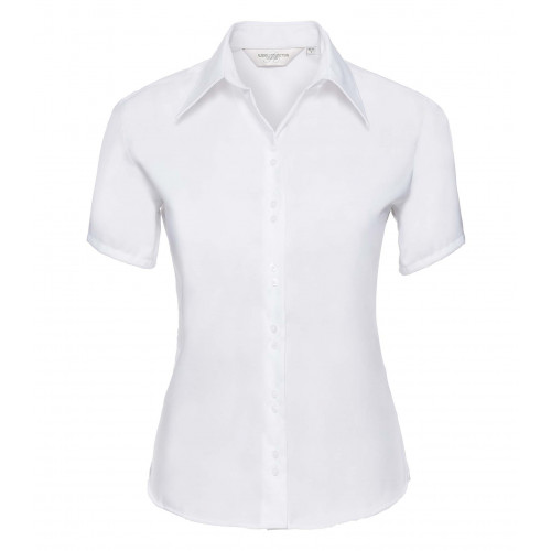 Russell Ladies´ Short Sleeve Ultimate Non-Iron Shirt White