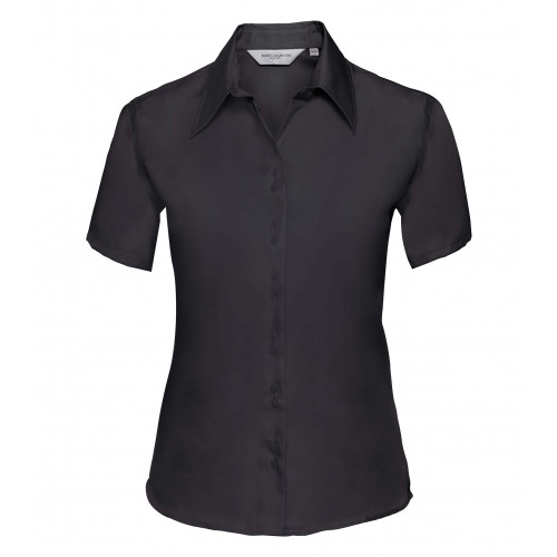 Russell Ladies´ Short Sleeve Ultimate Non-Iron Shirt Black