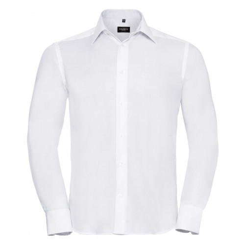 Russell Men´s Long Sleeve Tailored Ultimate Non-Iron Shirt White